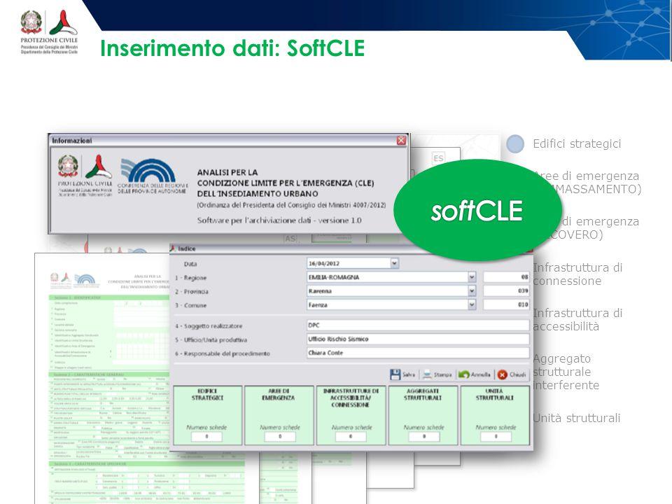 Inserimento dati: SoftCLE