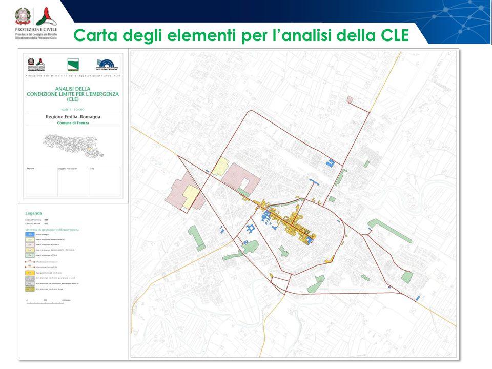 Carta degli elementi per l'analisi della CLE