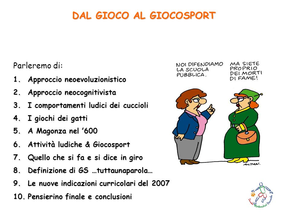 DAL GIOCO AL GIOCOSPORT