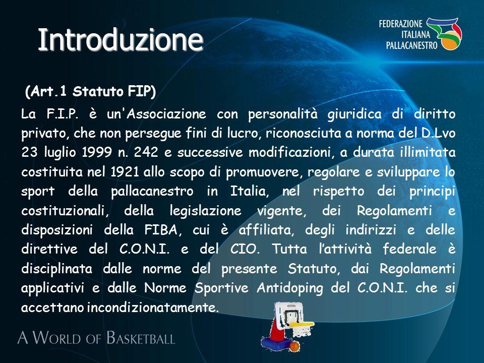 Introduzione (Art.1 Statuto FIP)