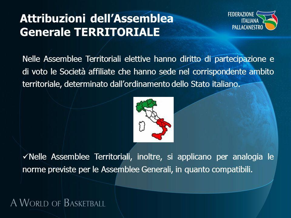 Attribuzioni dell'Assemblea Generale TERRITORIALE