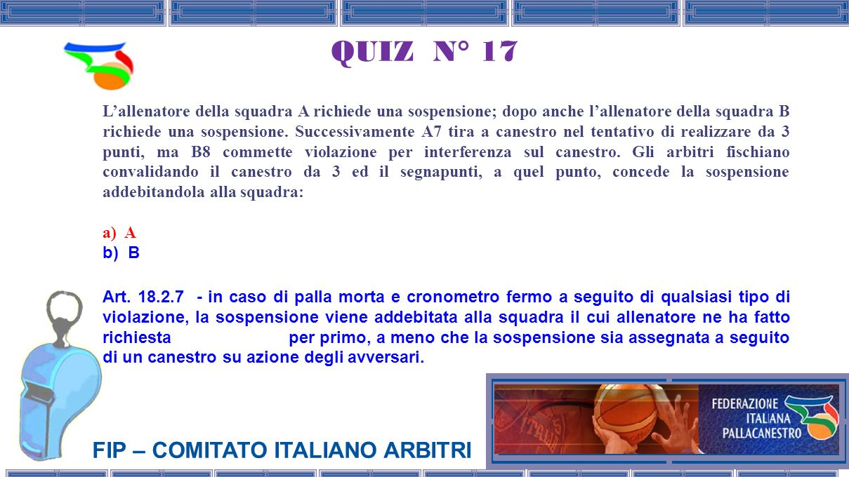 QUIZ N° 17