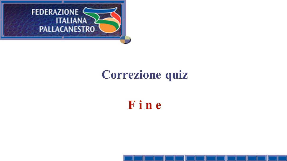 Titolo presentazione 27/03/2017 Correzione quiz F i n e Versione: