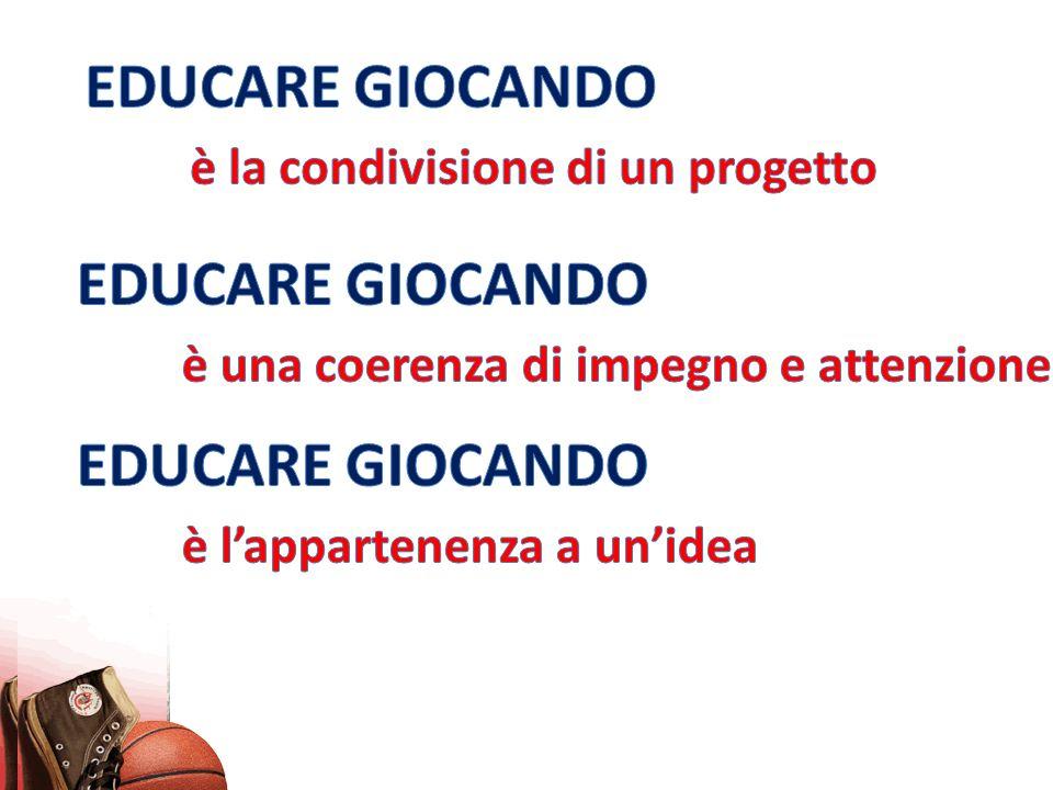 EDUCARE GIOCANDO è la condivisione di un progetto. EDUCARE GIOCANDO. è una coerenza di impegno e attenzione.