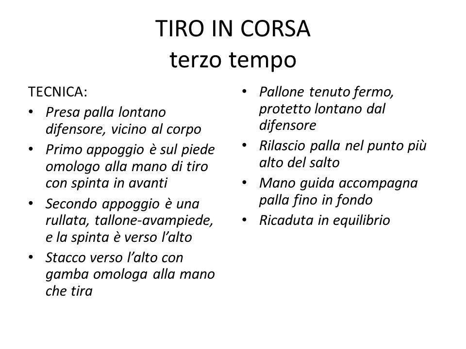 TIRO IN CORSA terzo tempo