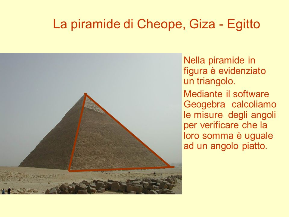 La piramide di Cheope, Giza - Egitto