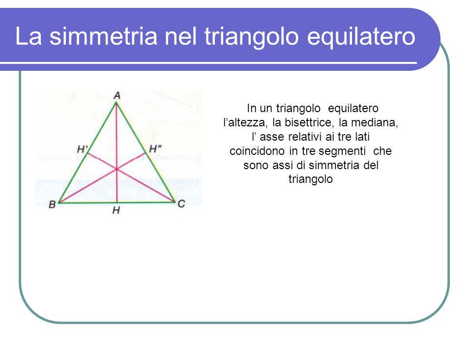 La simmetria nel triangolo equilatero
