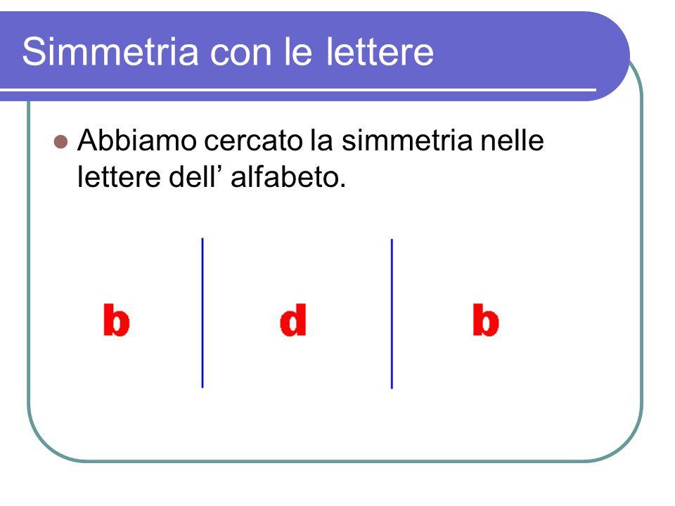 Simmetria con le lettere
