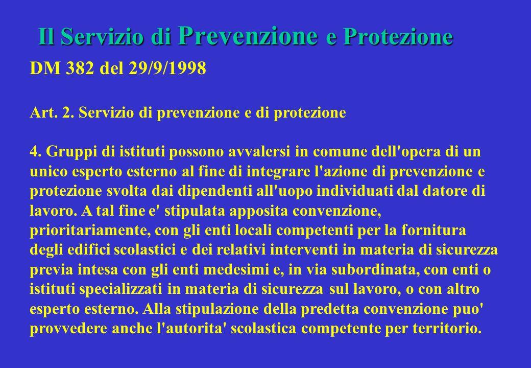 Il Servizio di Prevenzione e Protezione
