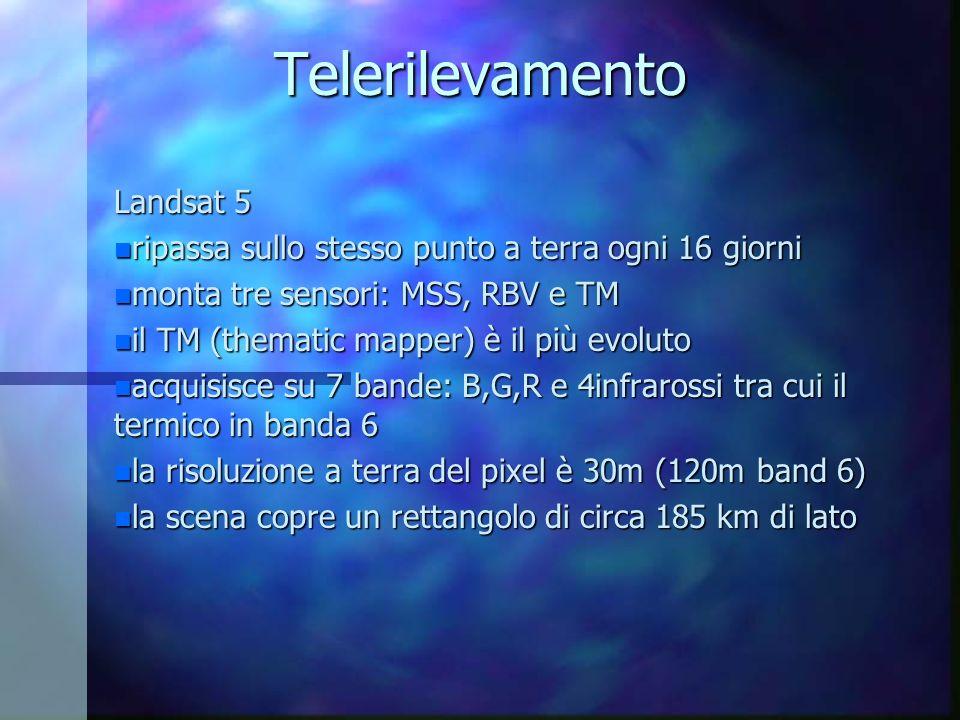 Telerilevamento Landsat 5