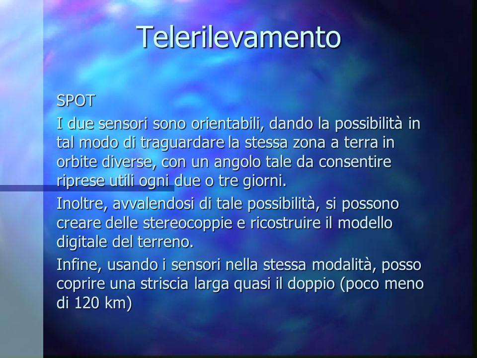 Telerilevamento SPOT.
