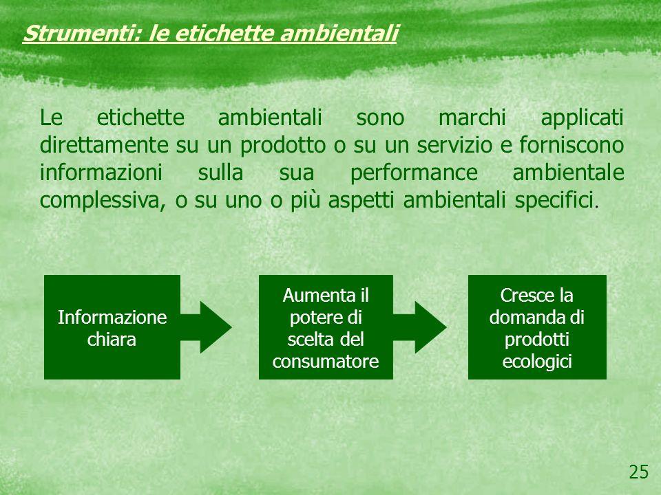 Strumenti: le etichette ambientali