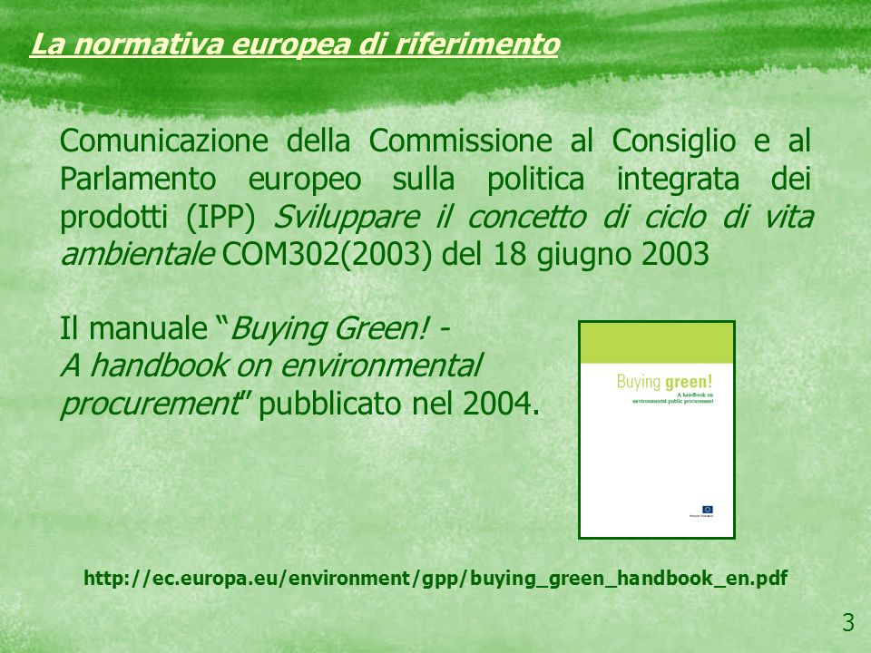 Il manuale Buying Green! - A handbook on environmental