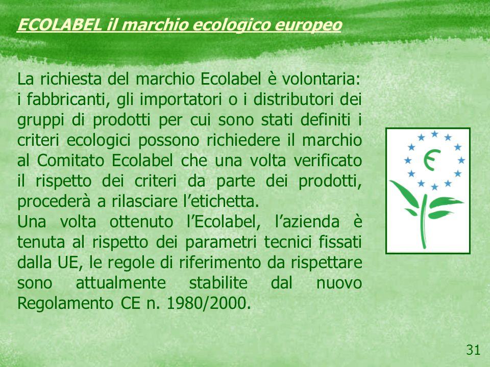 La richiesta del marchio Ecolabel è volontaria: