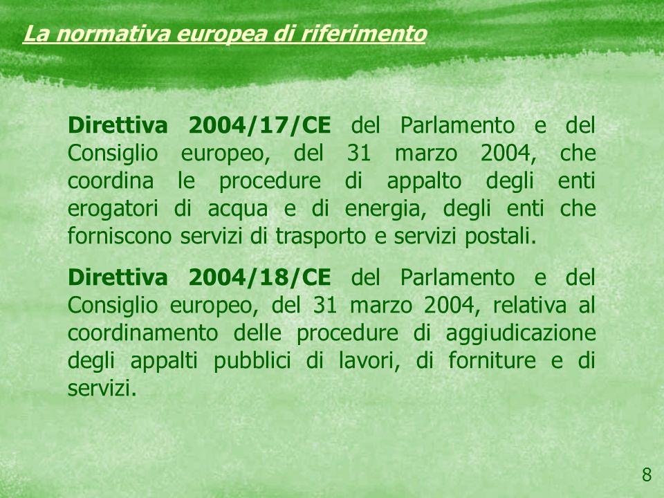 La normativa europea di riferimento