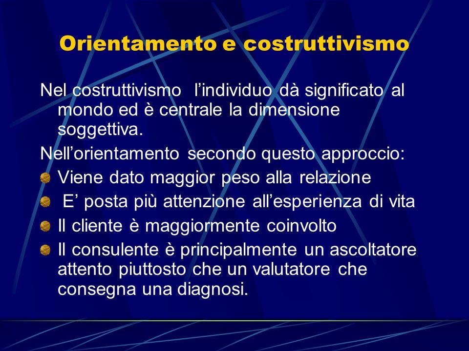 Orientamento e costruttivismo
