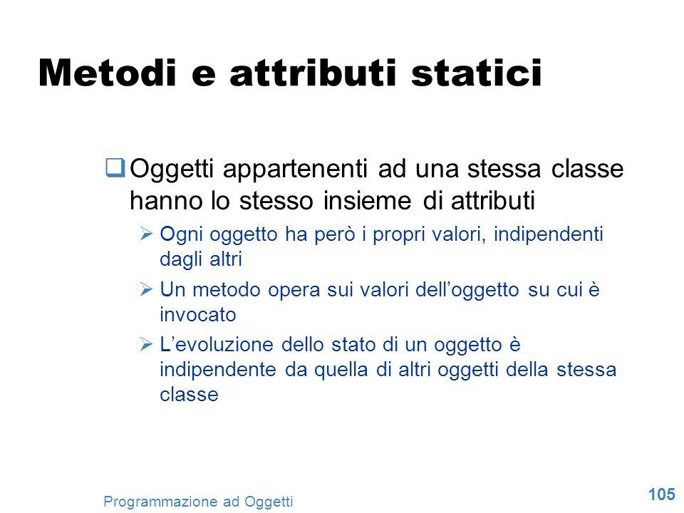 Metodi e attributi statici