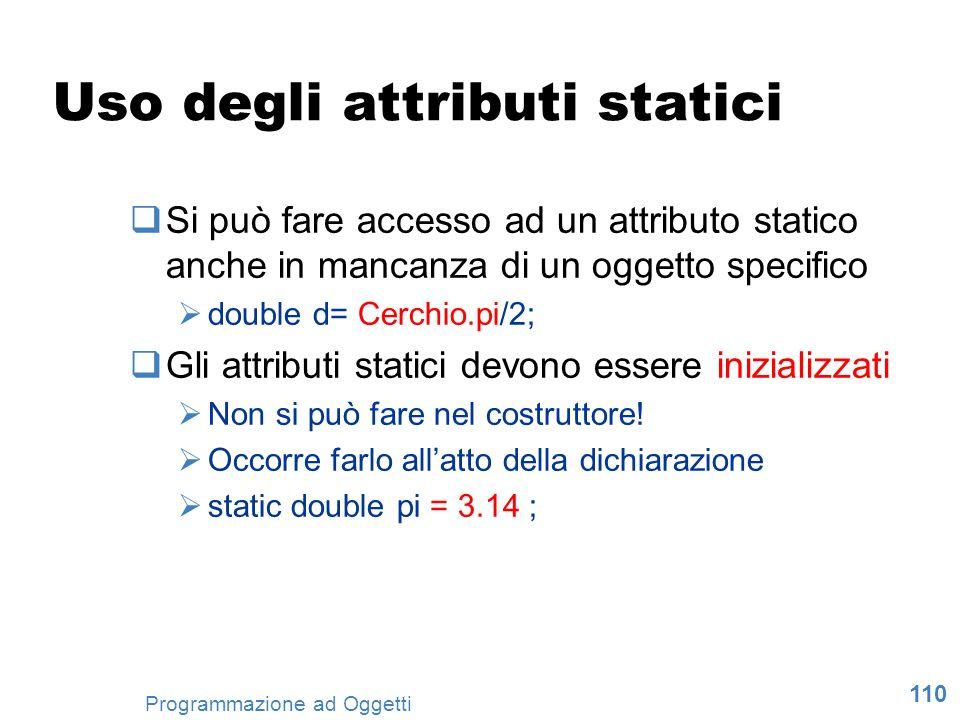 Uso degli attributi statici