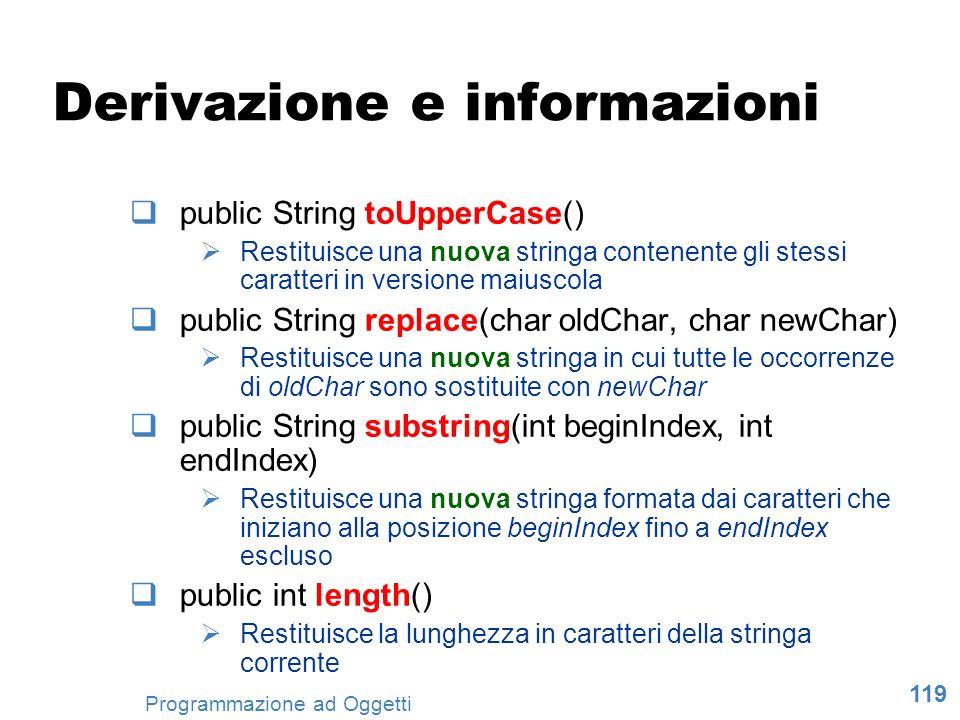 Derivazione e informazioni