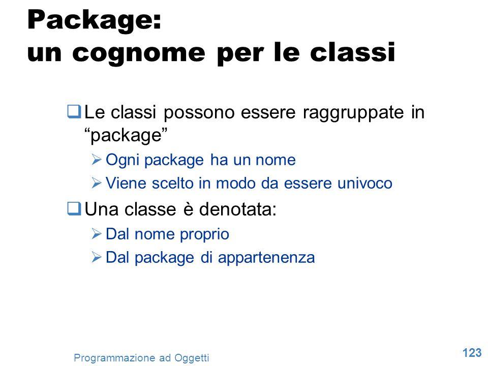 Package: un cognome per le classi