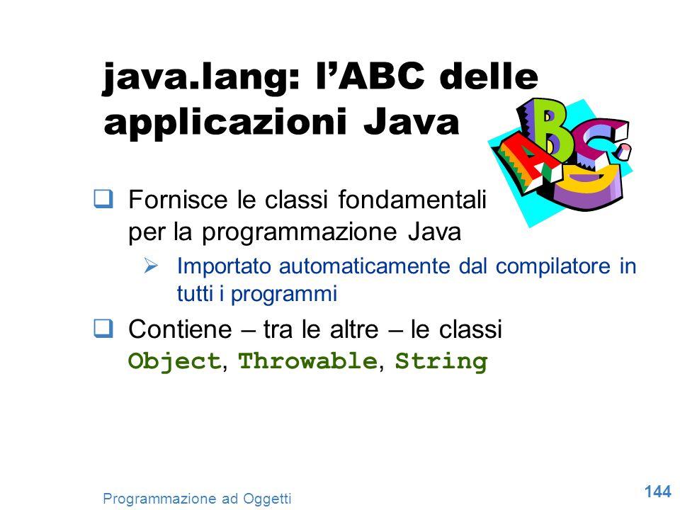 java.lang: l'ABC delle applicazioni Java