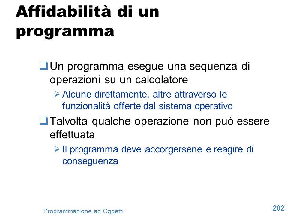 Affidabilità di un programma