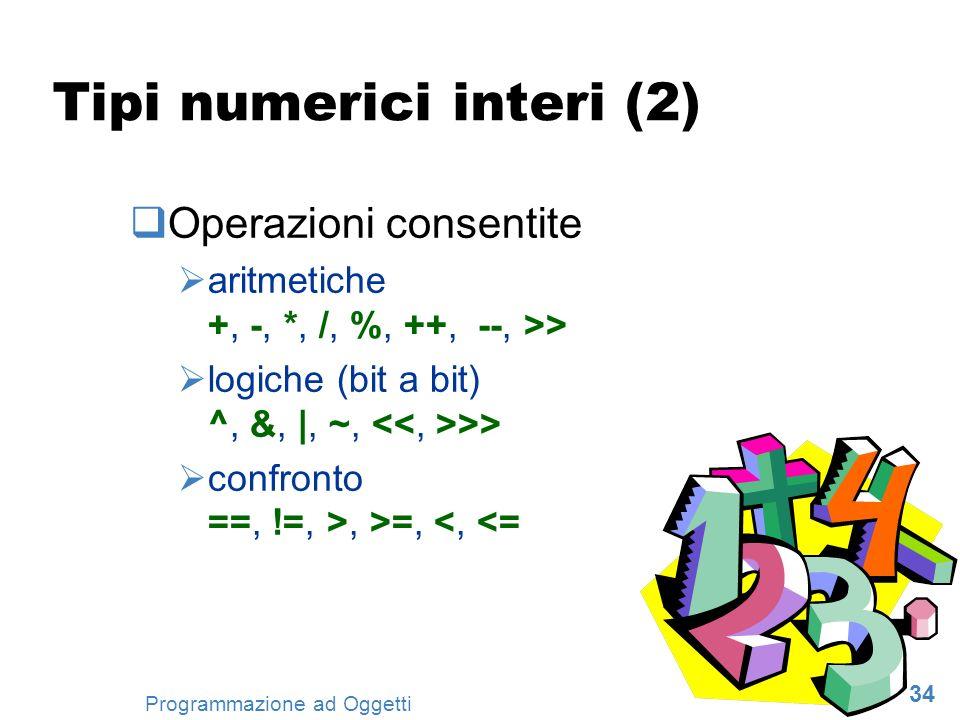 Tipi numerici interi (2)