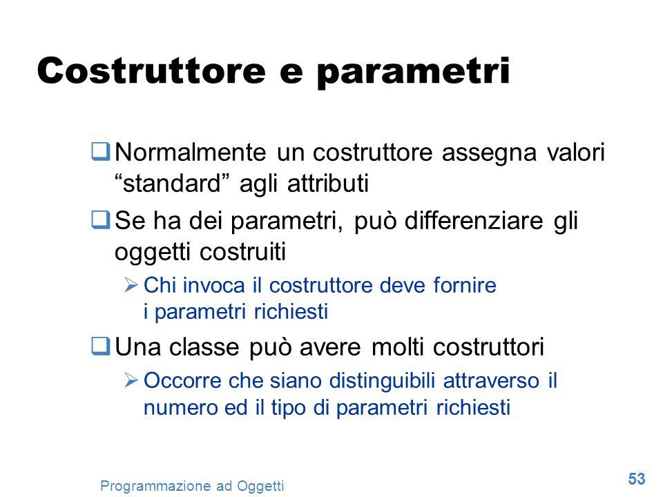 Costruttore e parametri