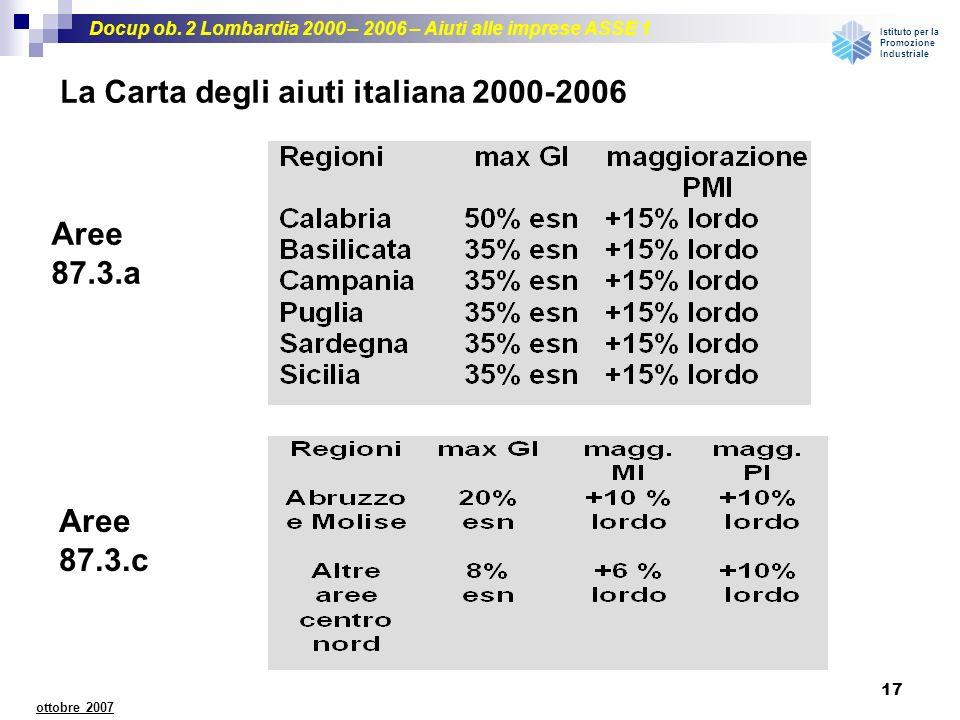 La Carta degli aiuti italiana 2000-2006