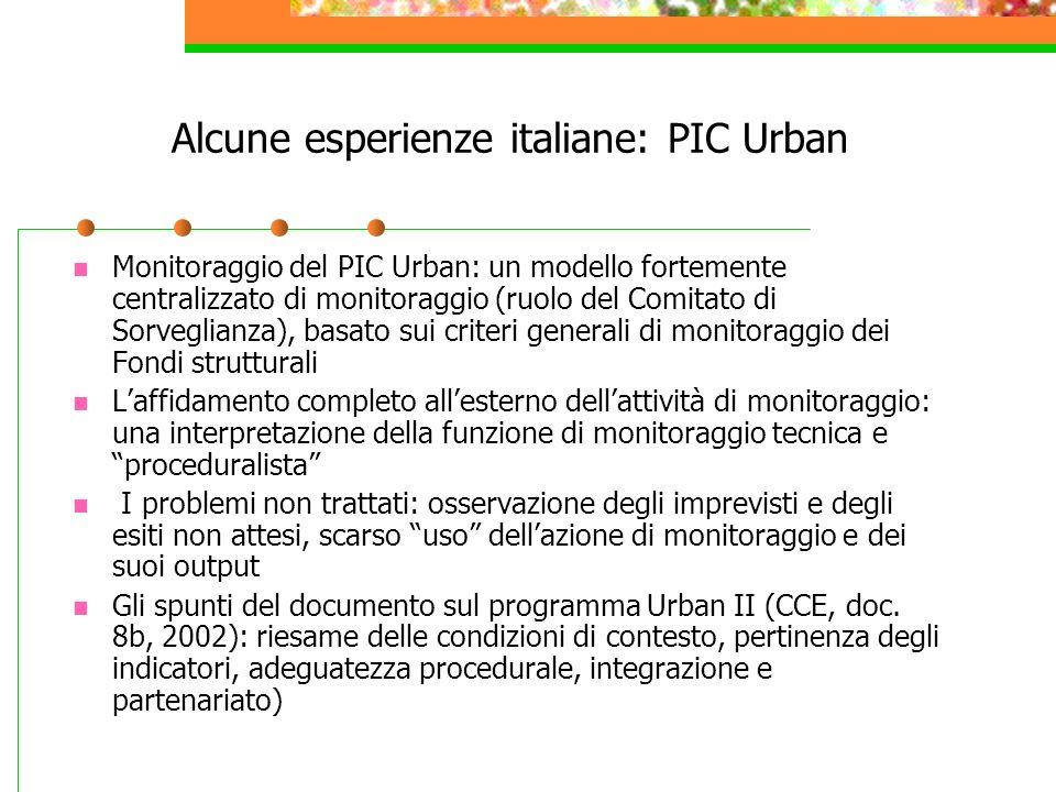 Alcune esperienze italiane: PIC Urban