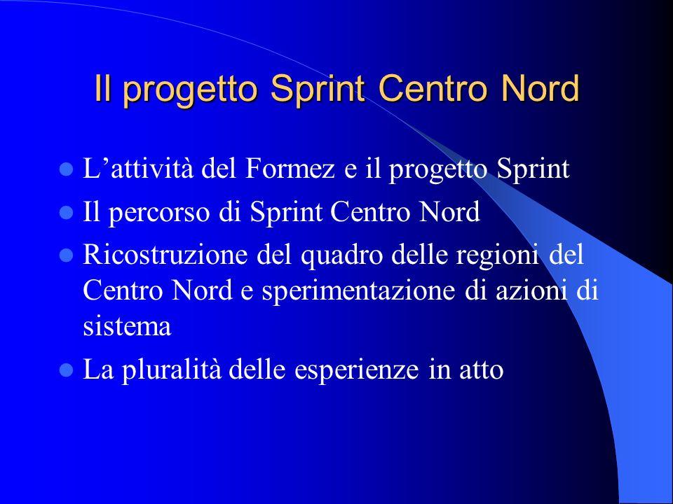 Il progetto Sprint Centro Nord