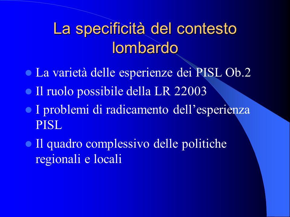 La specificità del contesto lombardo