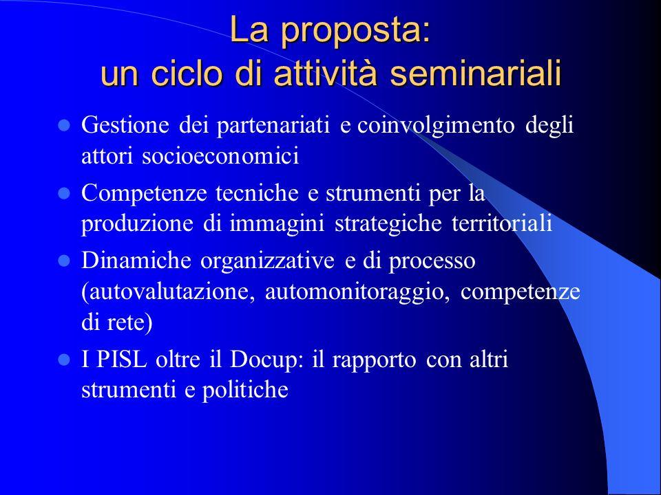 La proposta: un ciclo di attività seminariali