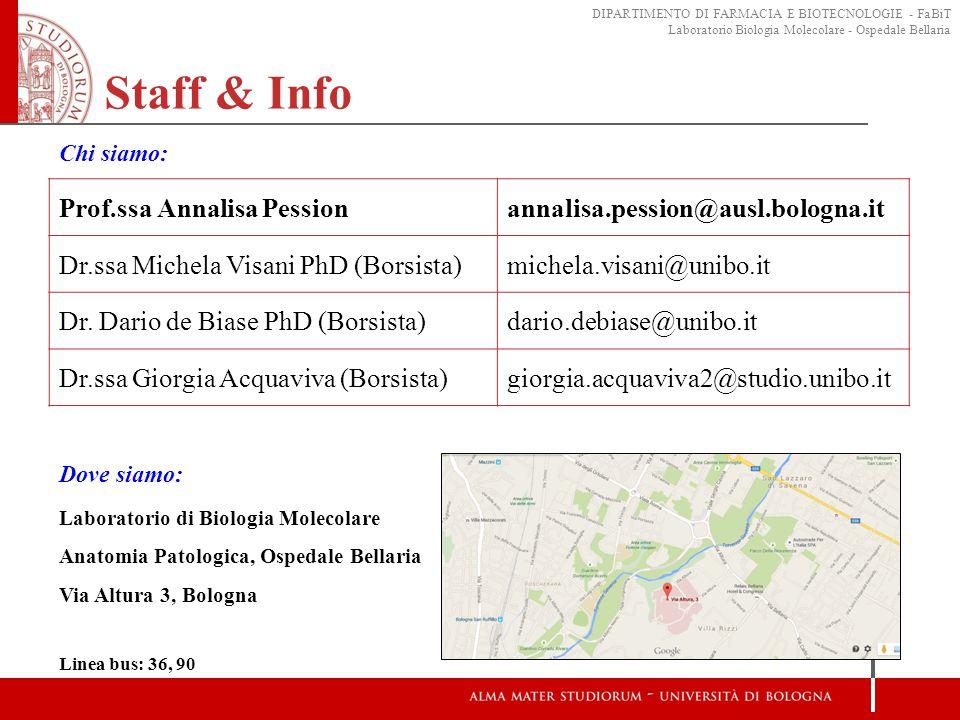 Staff & Info Prof.ssa Annalisa Pession