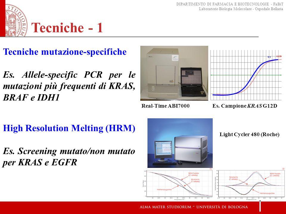 Tecniche - 1 Tecniche mutazione-specifiche