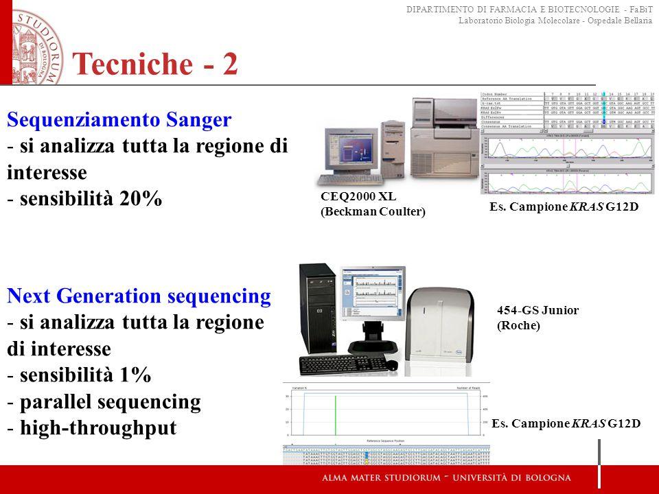 Tecniche - 2 Sequenziamento Sanger