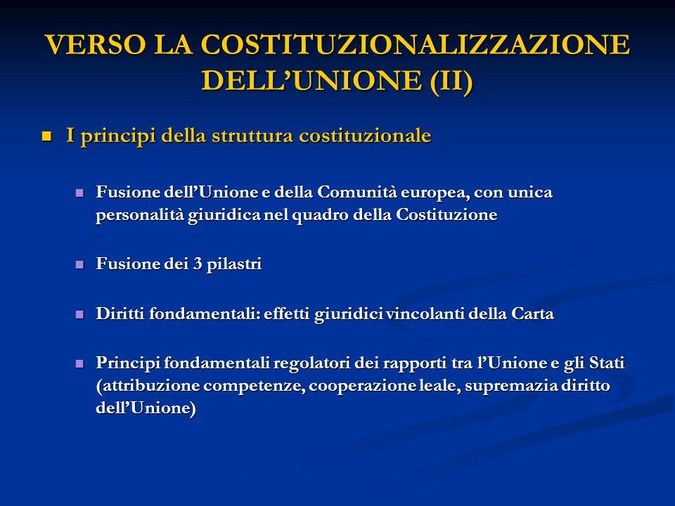 VERSO LA COSTITUZIONALIZZAZIONE DELL'UNIONE (II)