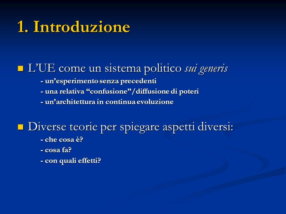1. Introduzione L'UE come un sistema politico sui generis
