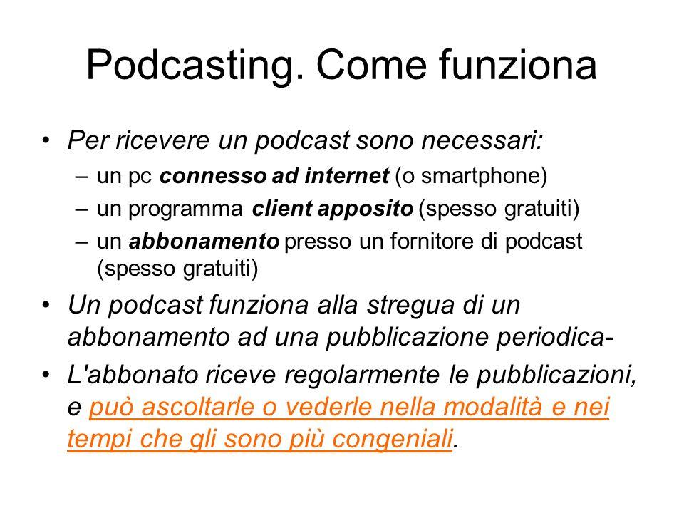 Podcasting. Come funziona