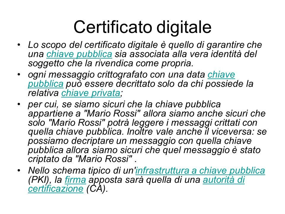 Certificato digitale