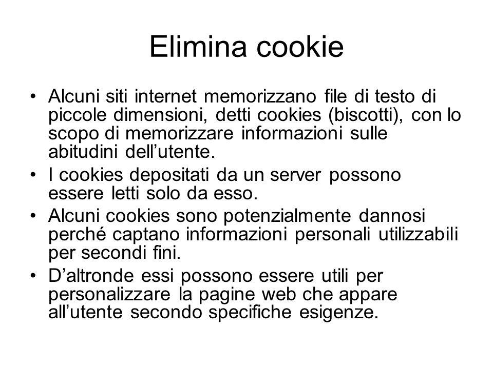 Elimina cookie