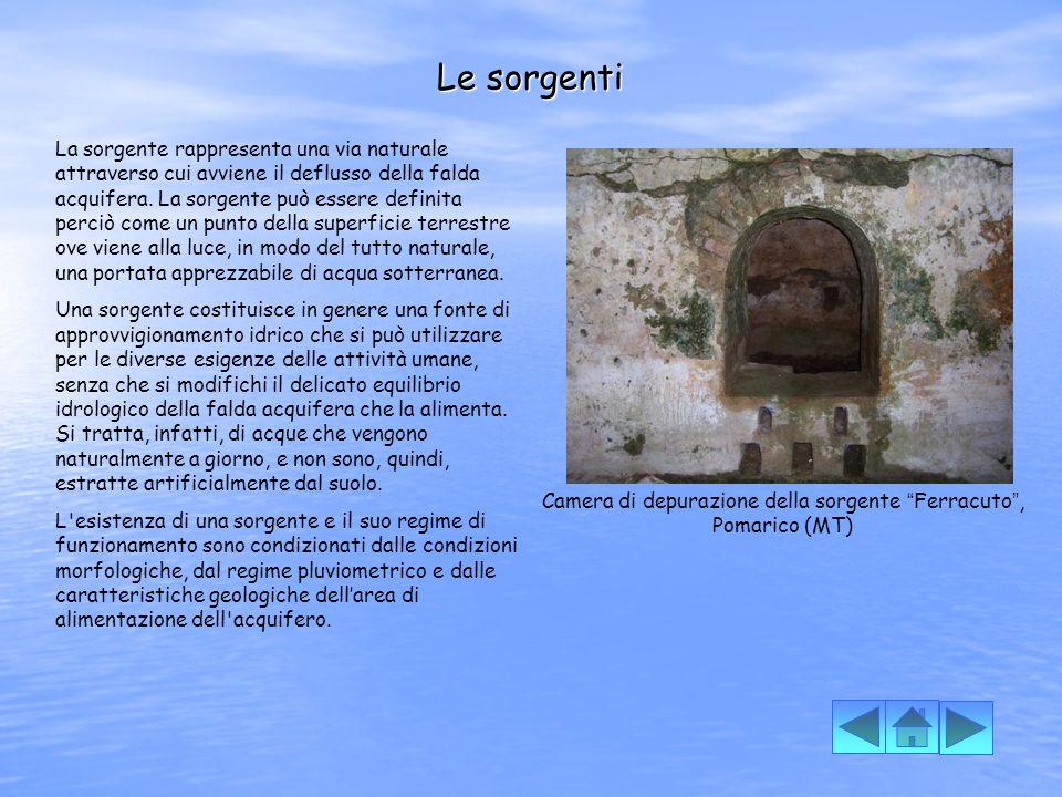 Camera di depurazione della sorgente Ferracuto , Pomarico (MT)