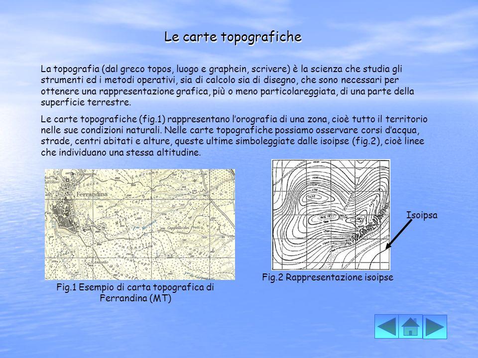 Fig.1 Esempio di carta topografica di Ferrandina (MT)