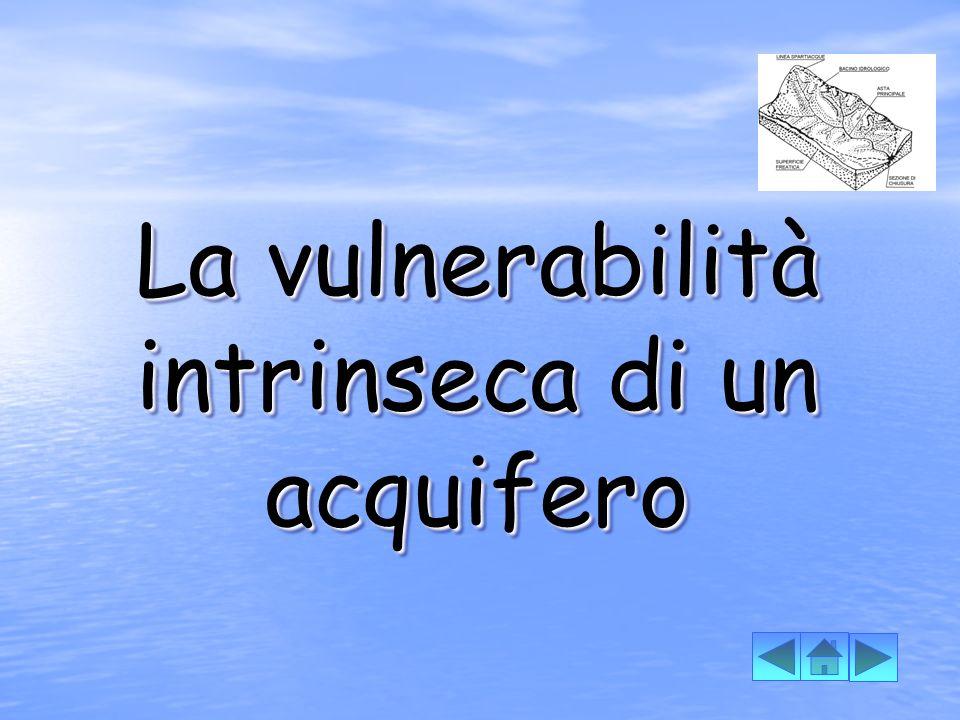 La vulnerabilità intrinseca di un acquifero