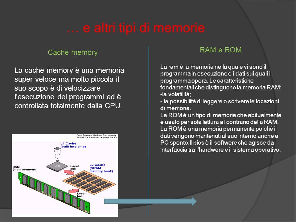 … e altri tipi di memorie