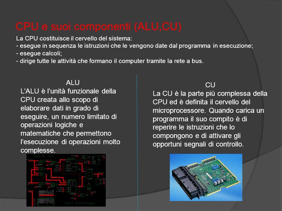 CPU e suoi componenti (ALU,CU)