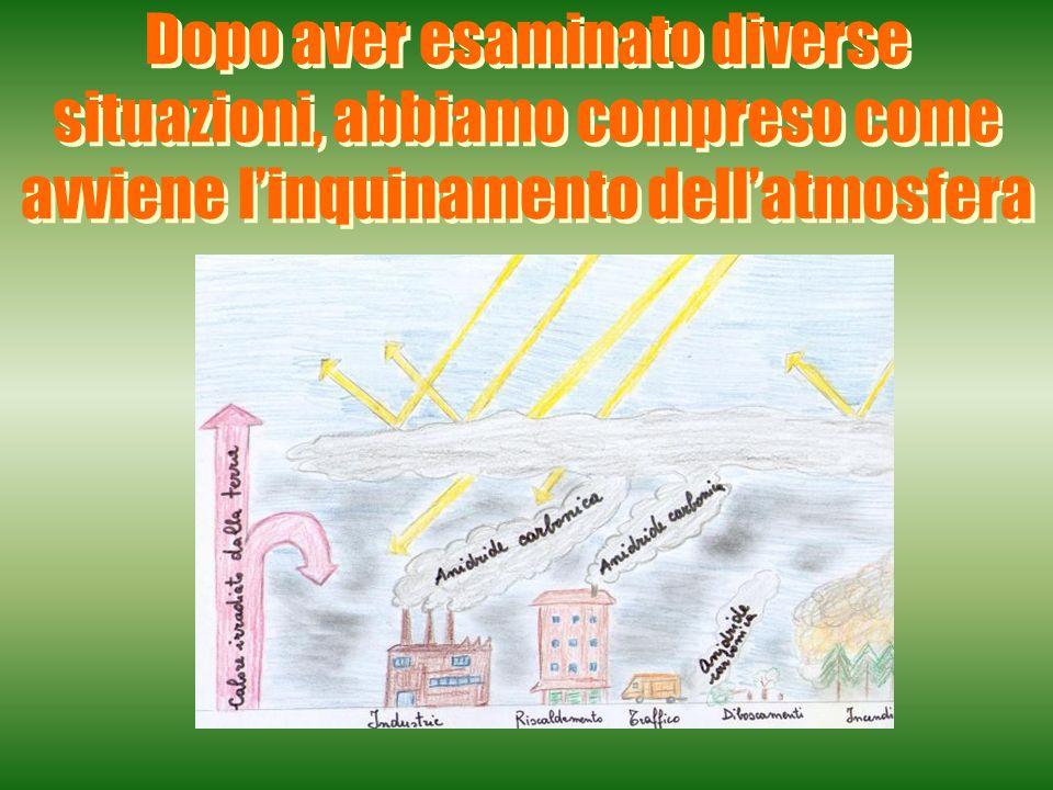 Dopo aver esaminato diverse situazioni, abbiamo compreso come avviene l'inquinamento dell'atmosfera