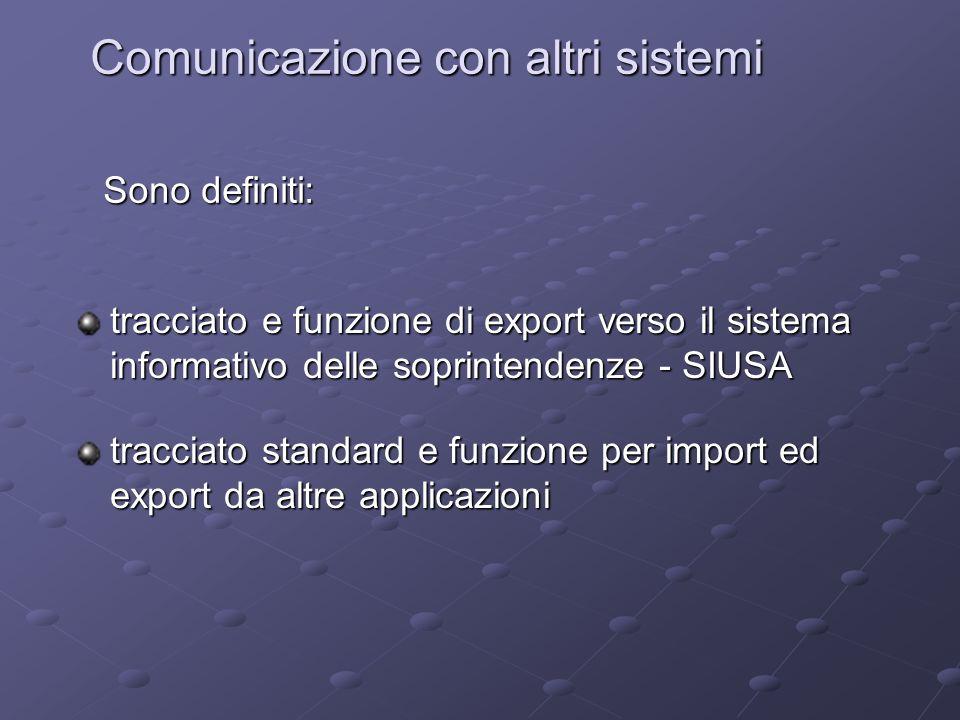 Comunicazione con altri sistemi
