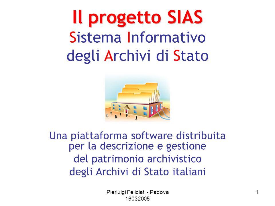 Il progetto SIAS Sistema Informativo degli Archivi di Stato