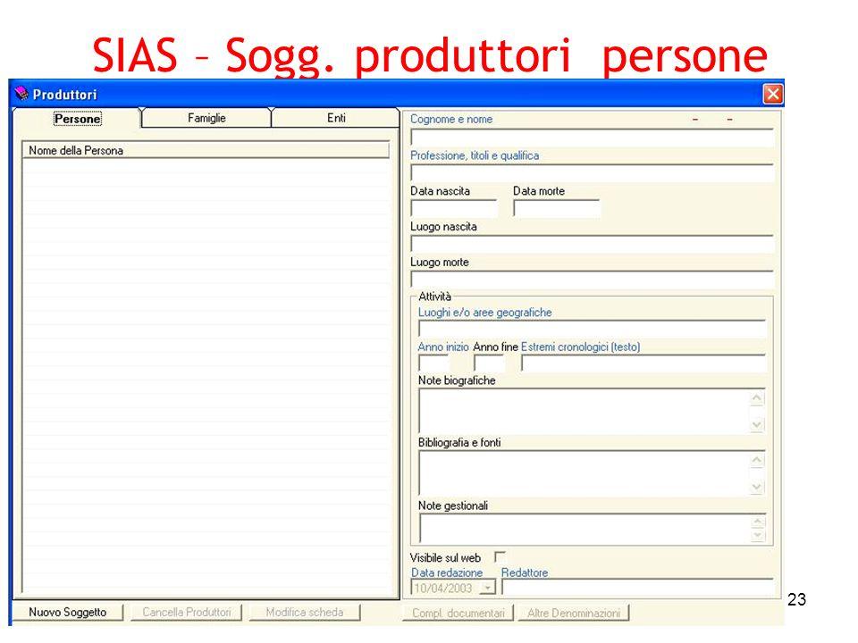 SIAS – Sogg. produttori persone